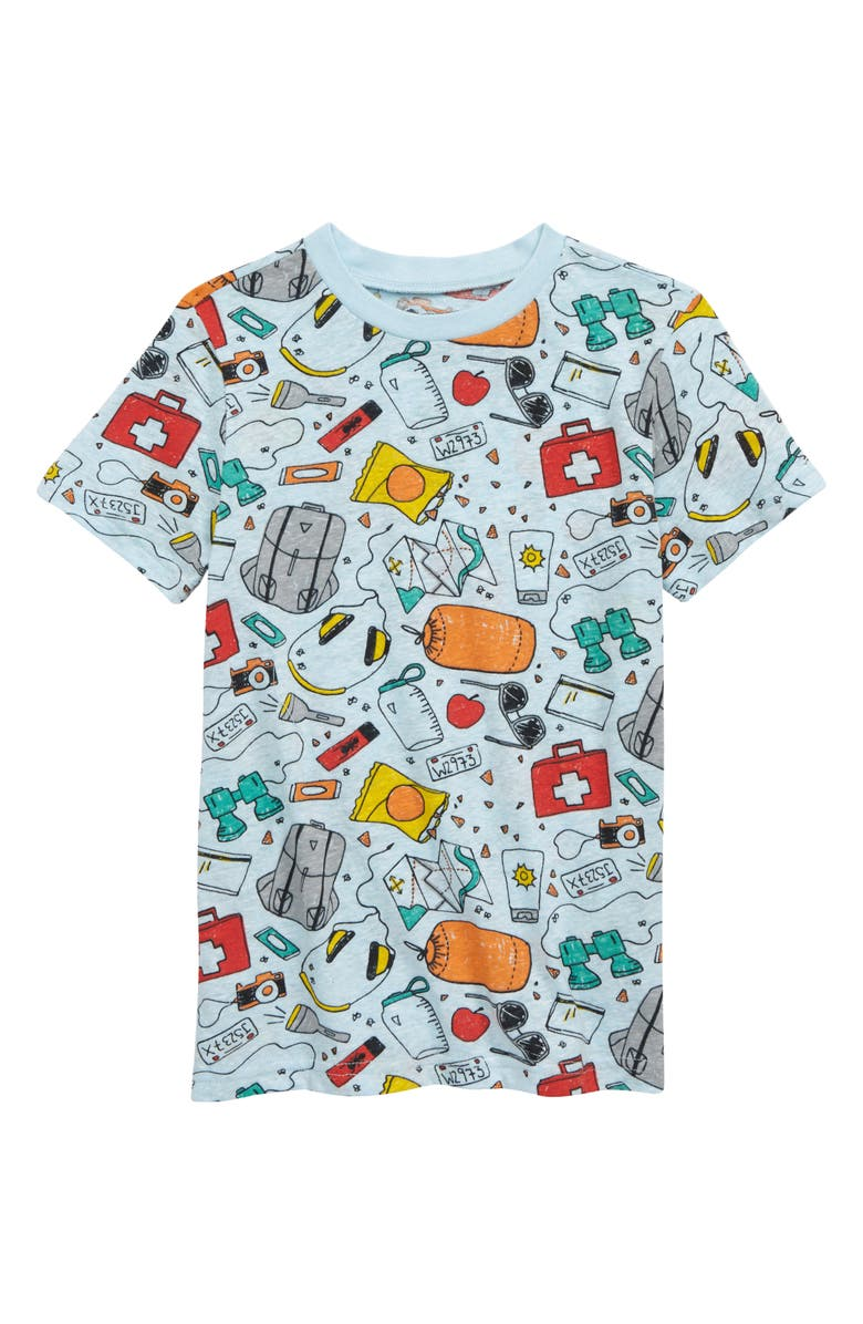 TUCKER + TATE Allover Print Graphic Tee, Main, color, BLUE CAMP ESSENTIALS
