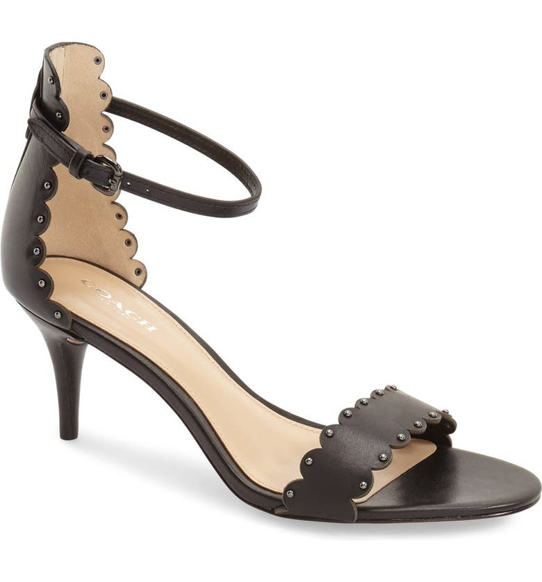 COACH 'Monica' Sandal, Main, color, 001