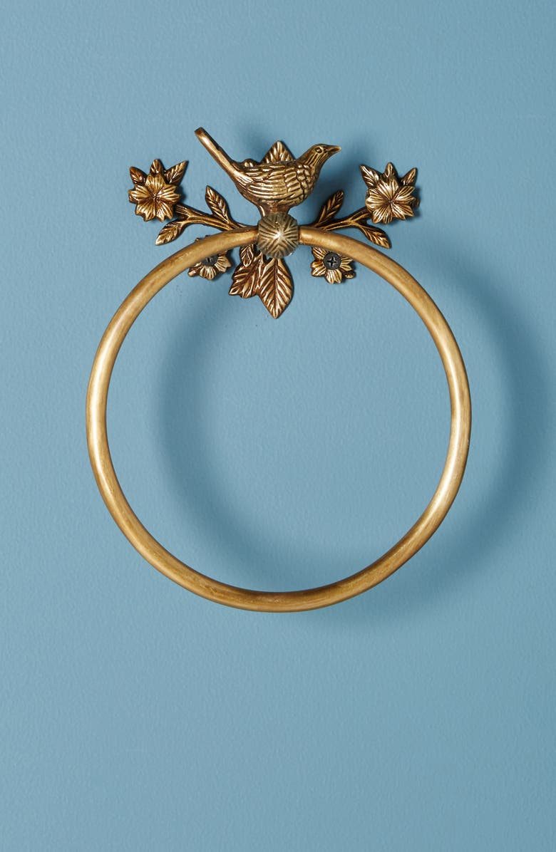 ANTHROPOLOGIE HOME Anthropologie Everlee Towel Ring, Main, color, 220