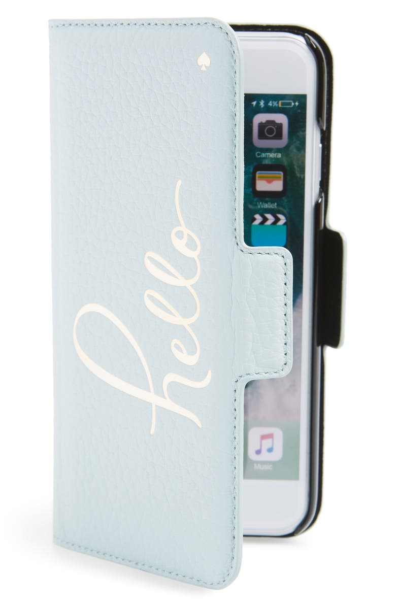 KATE SPADE NEW YORK hello iPhone 7/8 & 7/8 Plus folio case, Main, color, 400