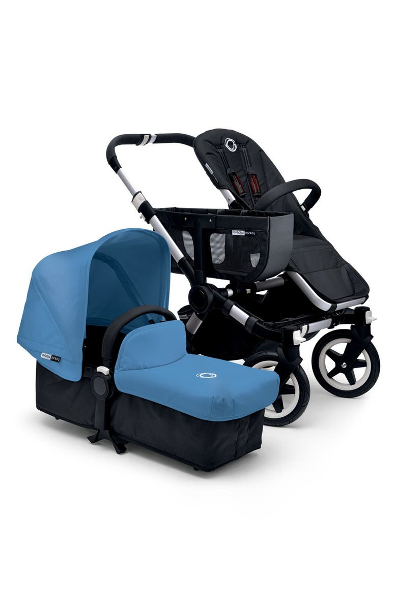 BUGABOO 'Donkey' Fabric Set with Expandable Canopy, Main, color, ICE BLUE