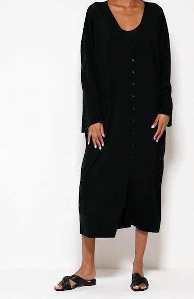 Long Sleeve Cover-Up Cotton Dress, video thumbnail