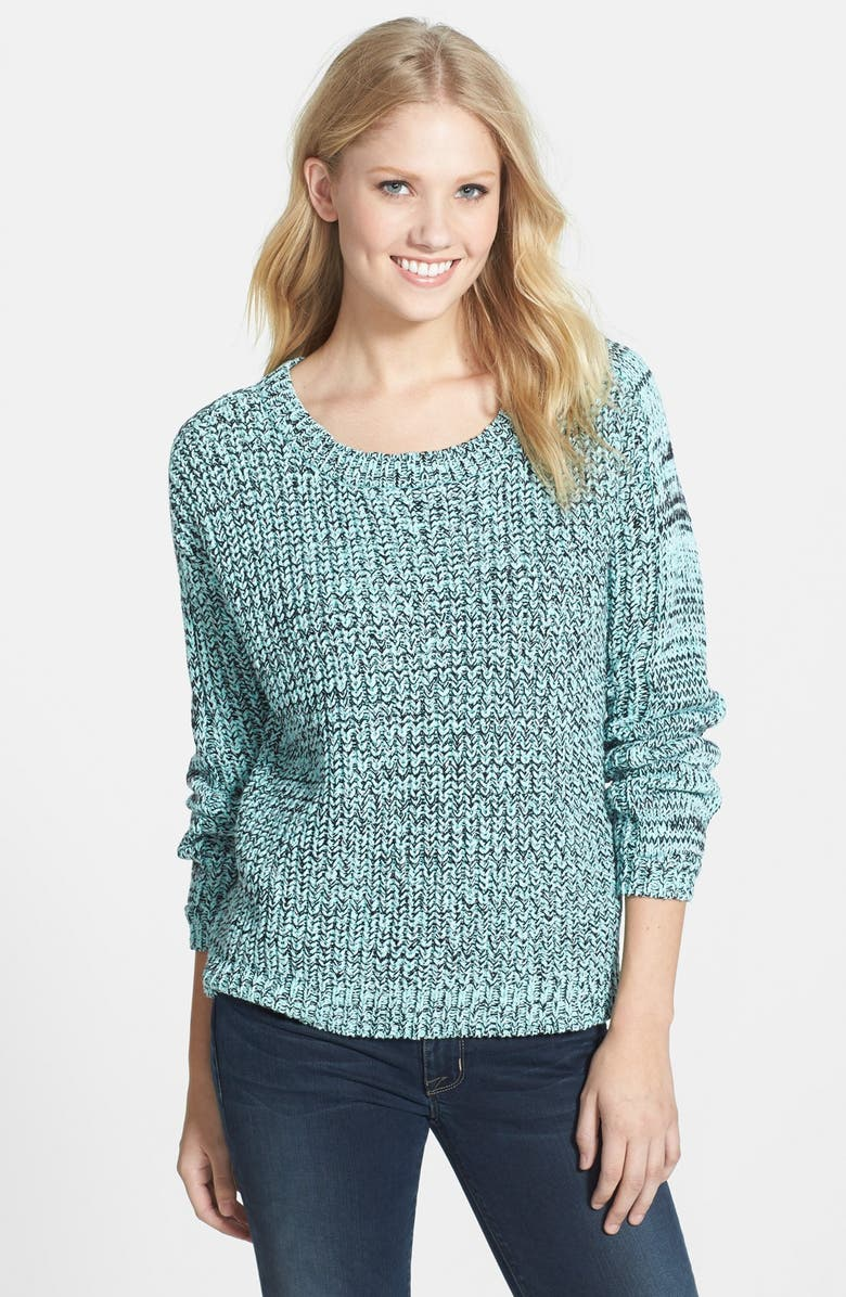 TWO BY VINCE CAMUTO Marled Mix Stitch Pullover, Main, color, 496