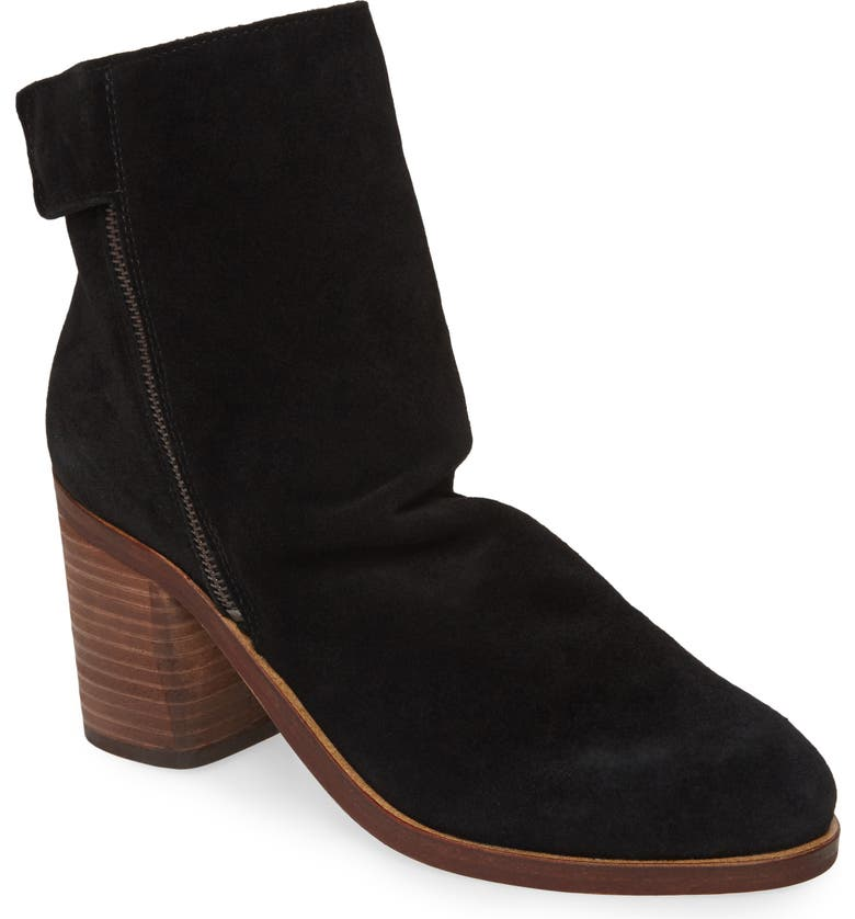 REBELS Jana Bootie, Main, color, BLACK SUEDE