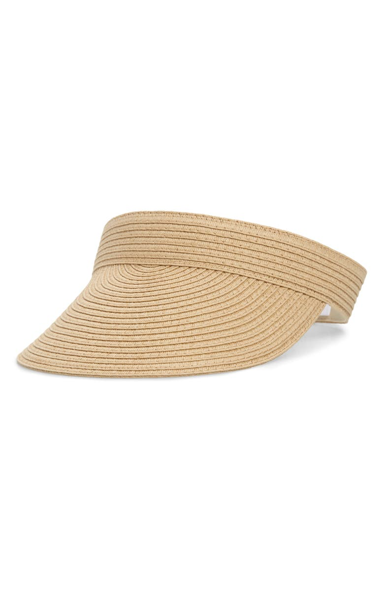 MADEWELL Packable Straw Visor, Main, color, 230