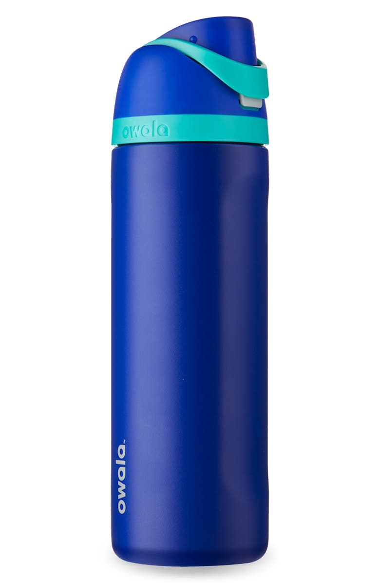 OWALA FreeSip 24-Ounce Stainless Steel Bottle, Main, color, SMOOSHED BLUEBERRY