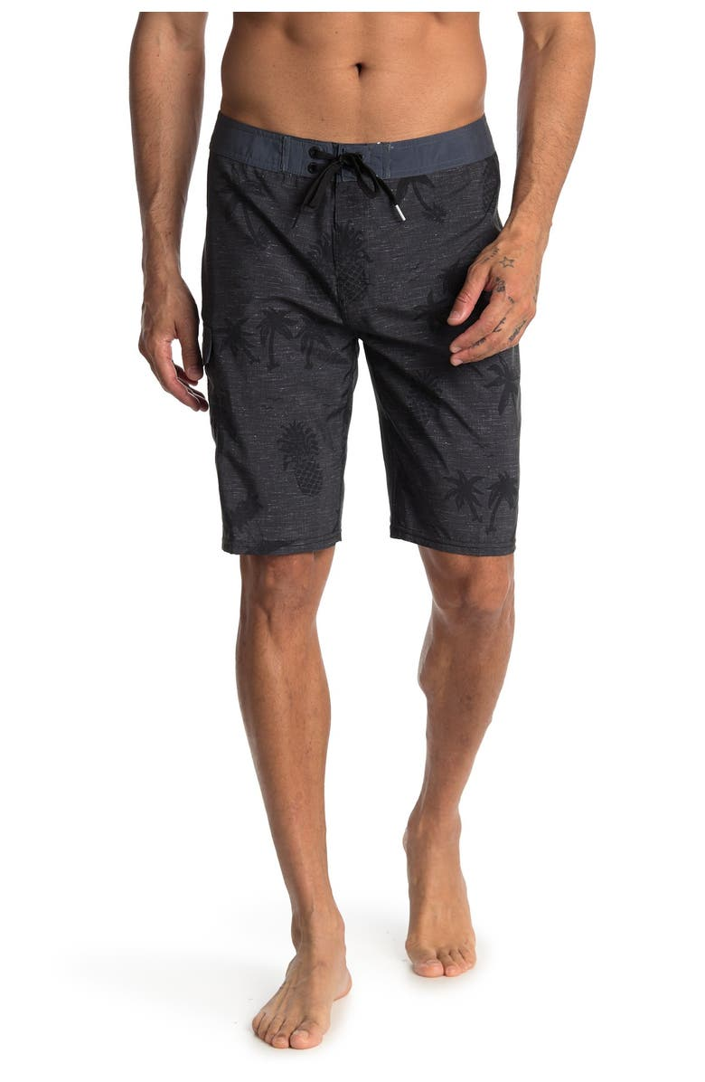 RIP CURL Poolside Printed Boardshorts, Main, color, BLK