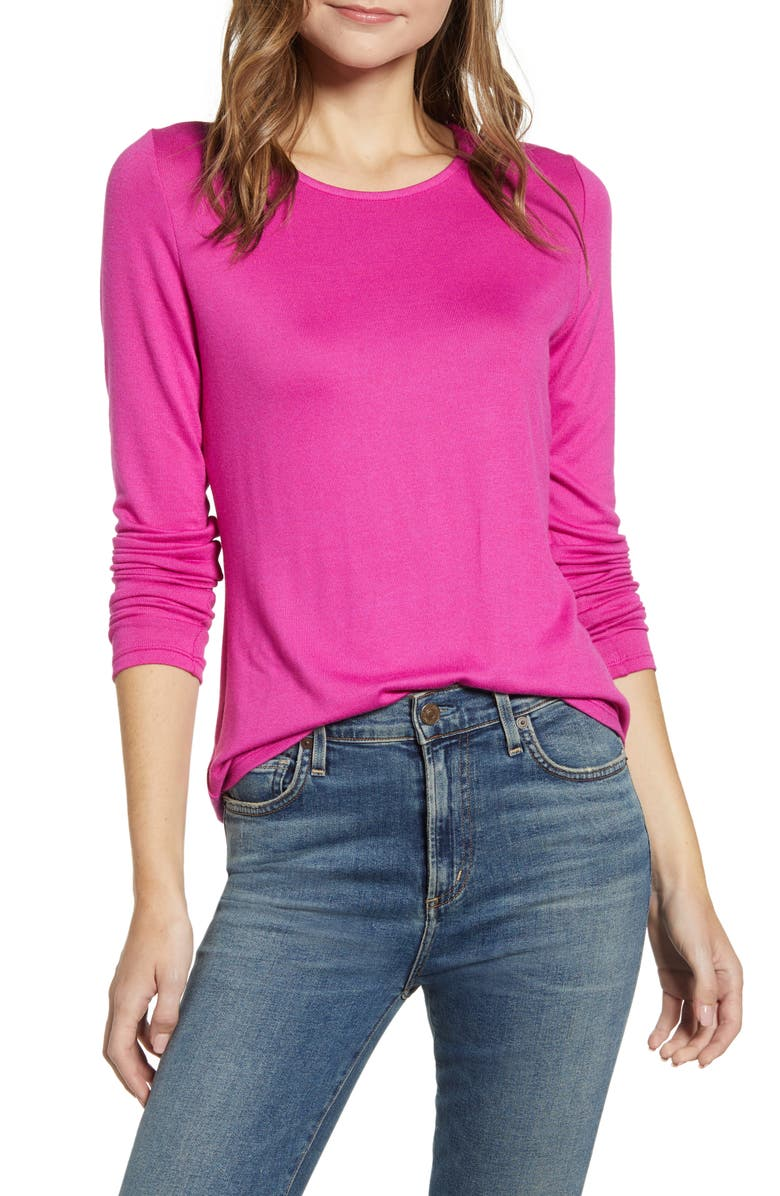 GIBSONLOOK Gibson Cozy Fleece Fitted Top, Main, color, 665