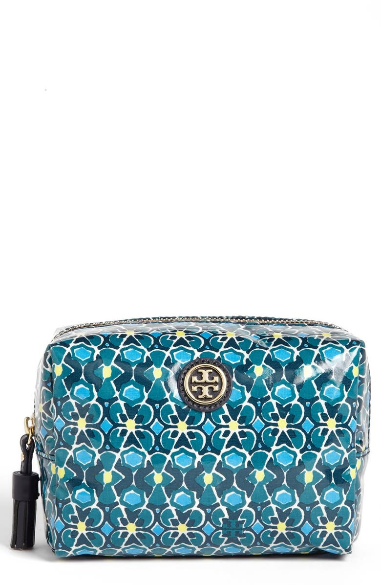TORY BURCH 'Brigitte' Cosmetics Case, Main, color, 400