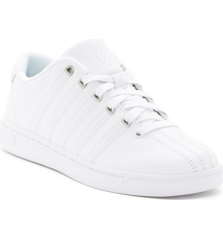 K-SWISS Court Pro II CMF Leather Sneaker, Main, color, WHITE/SILVER