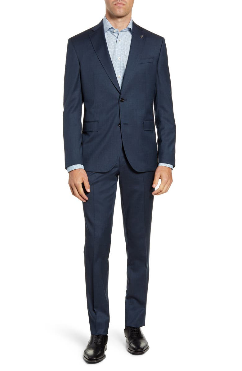 TED BAKER LONDON Roger Trim Fit Stretch Solid Wool Suit, Main, color, 400
