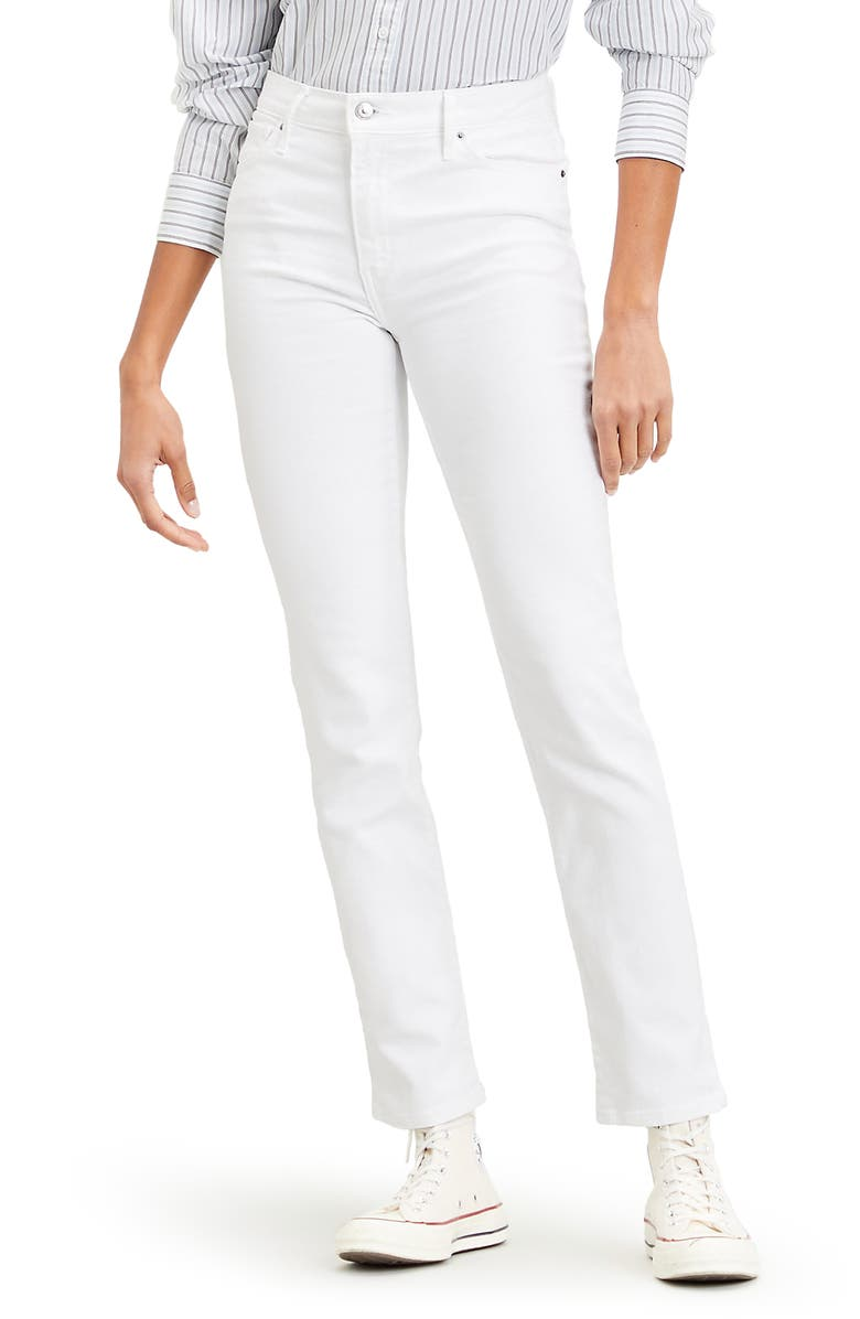 LEVI'S<SUP>®</SUP> 724<sup>™</sup> High Waist Straight Leg Jeans, Main, color, WESTERN WHITE