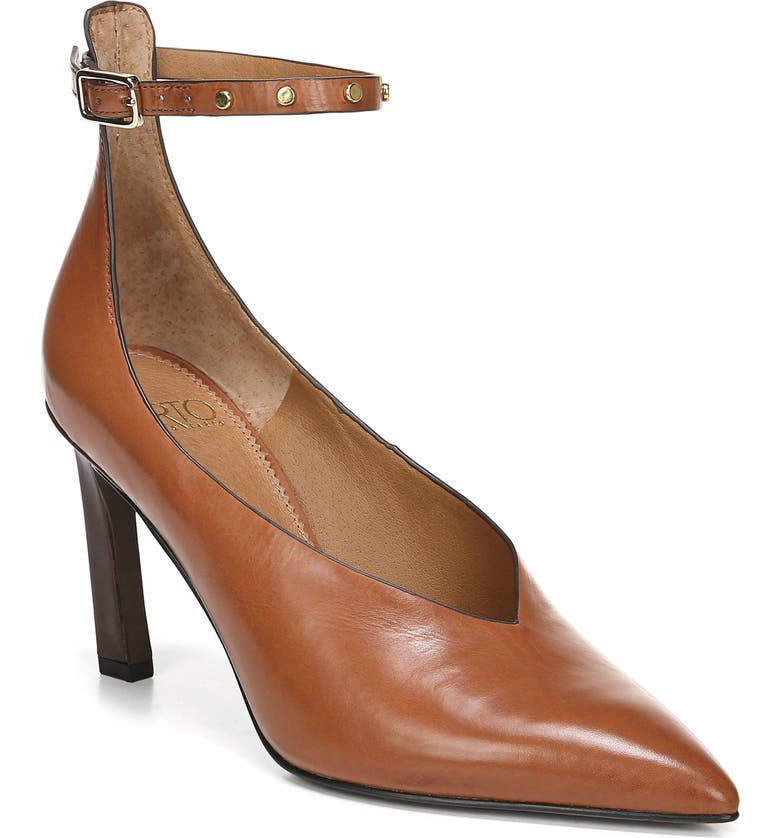 SARTO BY FRANCO SARTO Sarah Ankle Strap Pump, Main, color, BISCUIT LEATHER