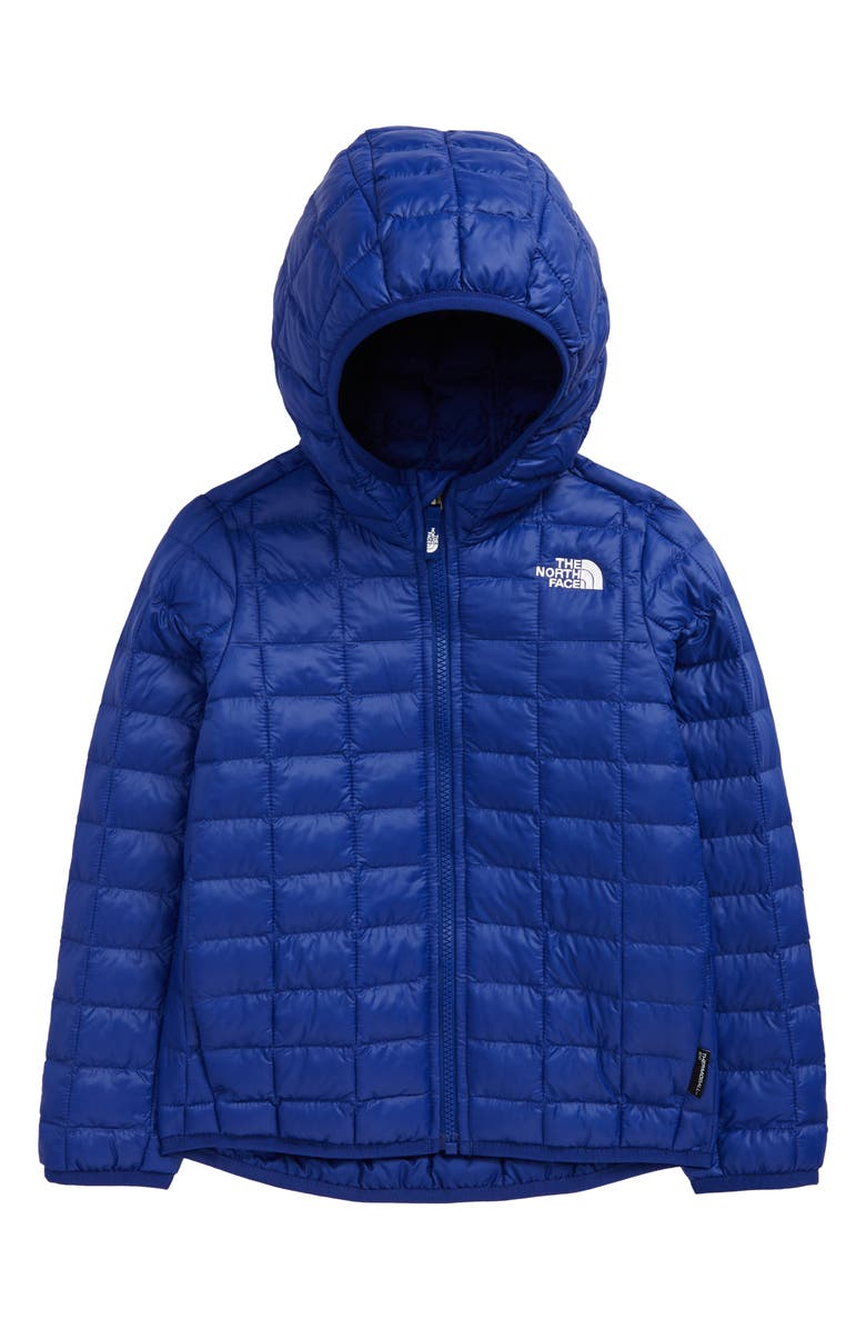 THE NORTH FACE Kids' ThermoBall<sup>™</sup> Eco Hooded Jacket, Main, color, BOLT BLUE