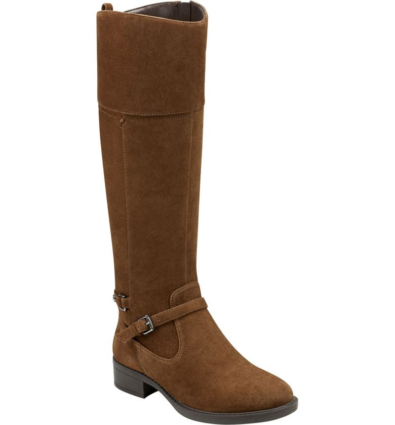 EASY SPIRIT Leigh Knee High Boot, Main, color, BROWN LEATHER