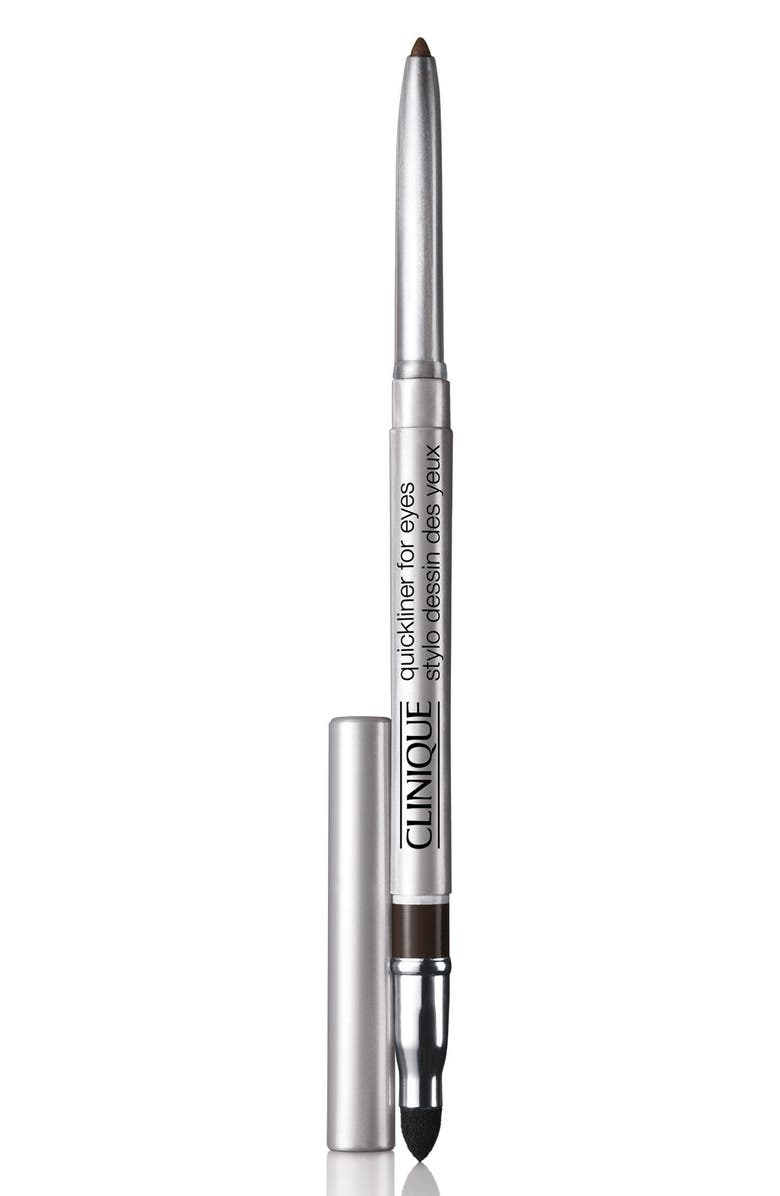 CLINIQUE Quickliner for Eyes Eyeliner Pencil, Main, color, BLACK/BROWN