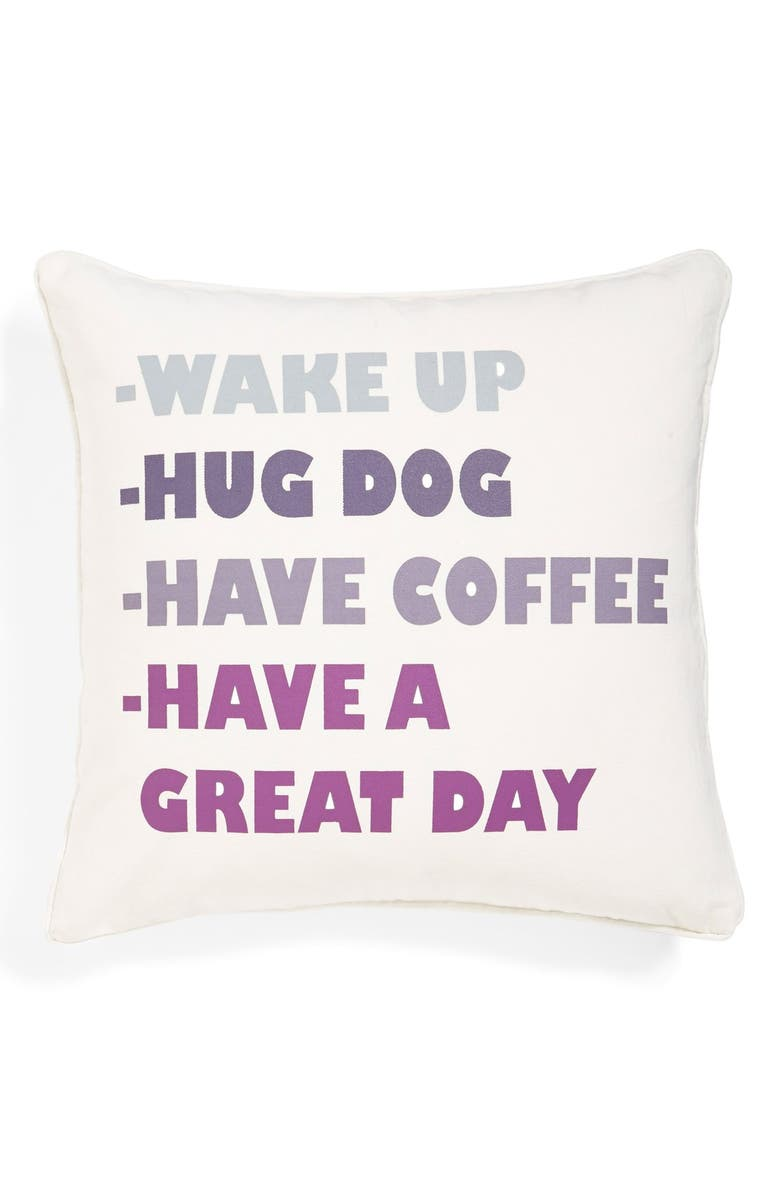 LEVTEX 'Have a Great Day' Accent Pillow, Main, color, 900