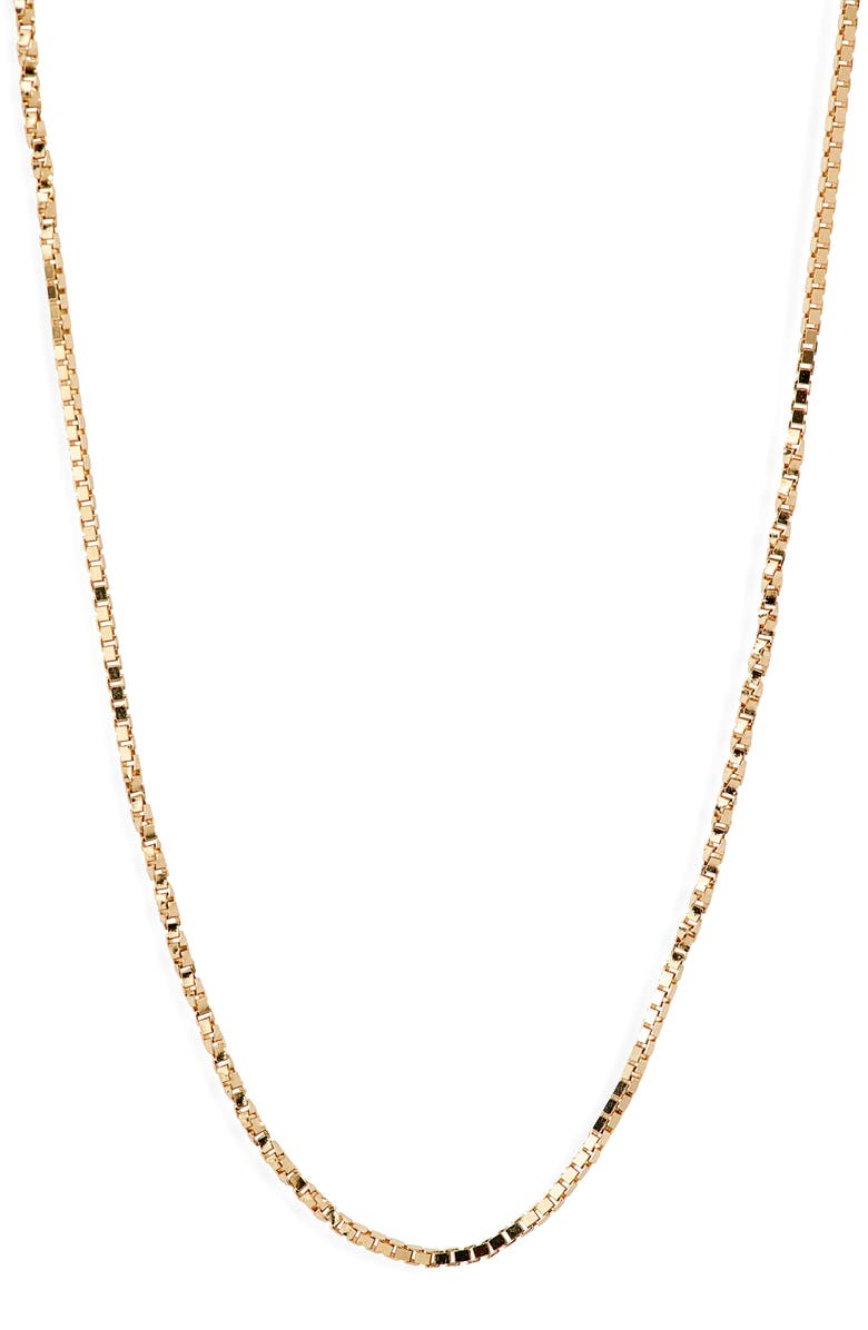 BONY LEVY 14K Gold Flat Rolo Chain Necklace, Main, color, YELLOW GOLD