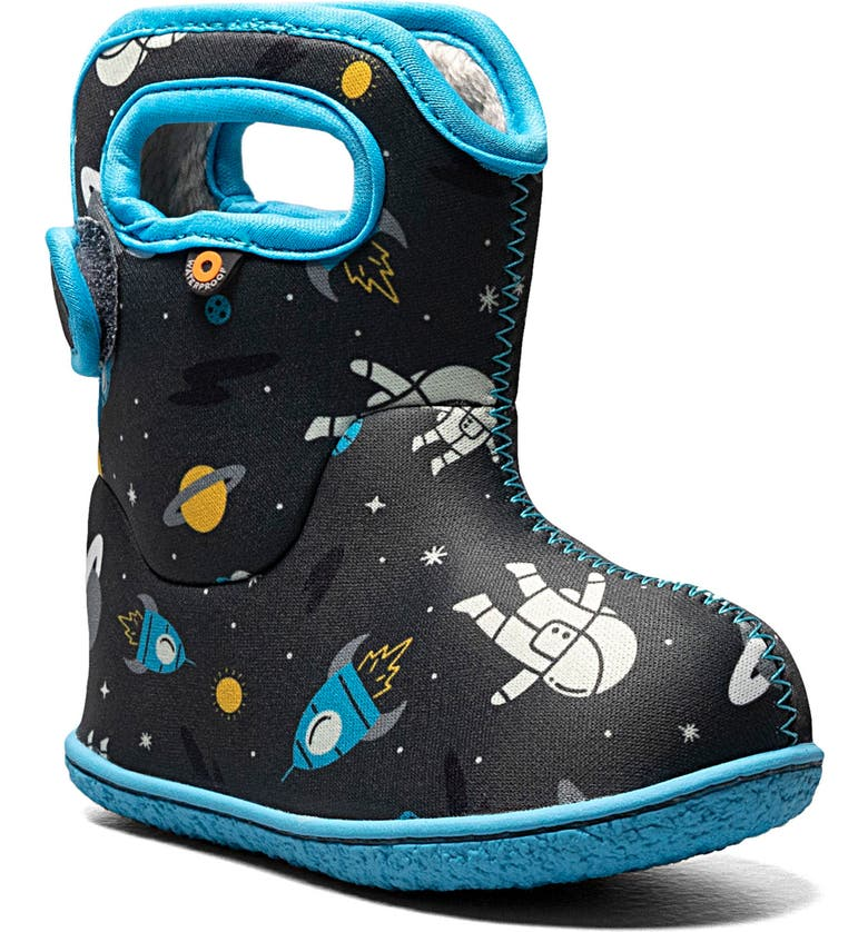 BOGS Baby Bogs Space Print Insulated Waterproof Boot, Main, color, 074