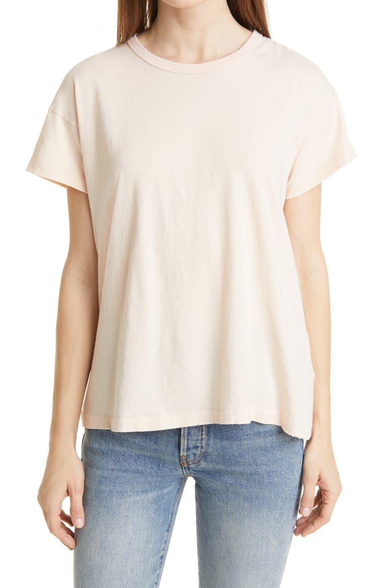 THE GREAT. Tee, Main, color, WHISPER PINK