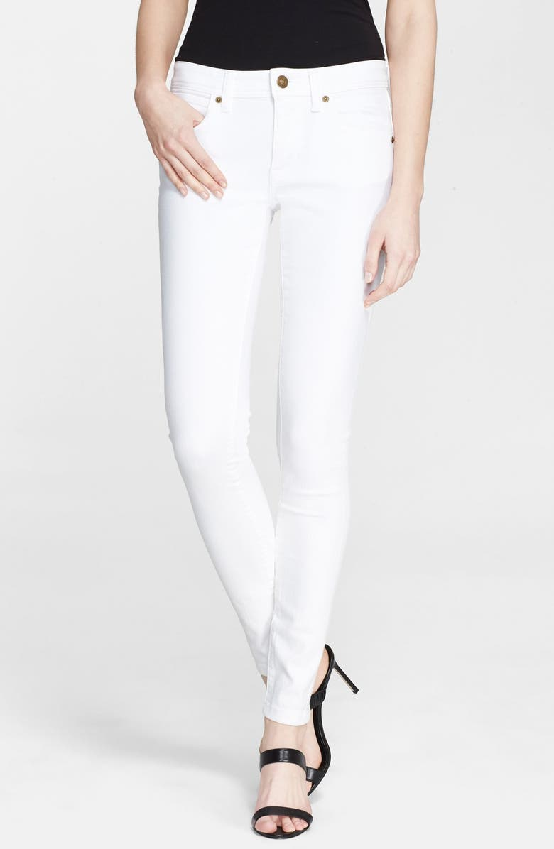 BURBERRY BRIT Stretch Skinny Jeans, Main, color, White