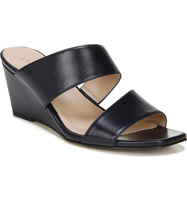 27 EDIT Vennice Wedge Slide Sandal, Main, color, FRENCH NAVY PATENT LEATHER