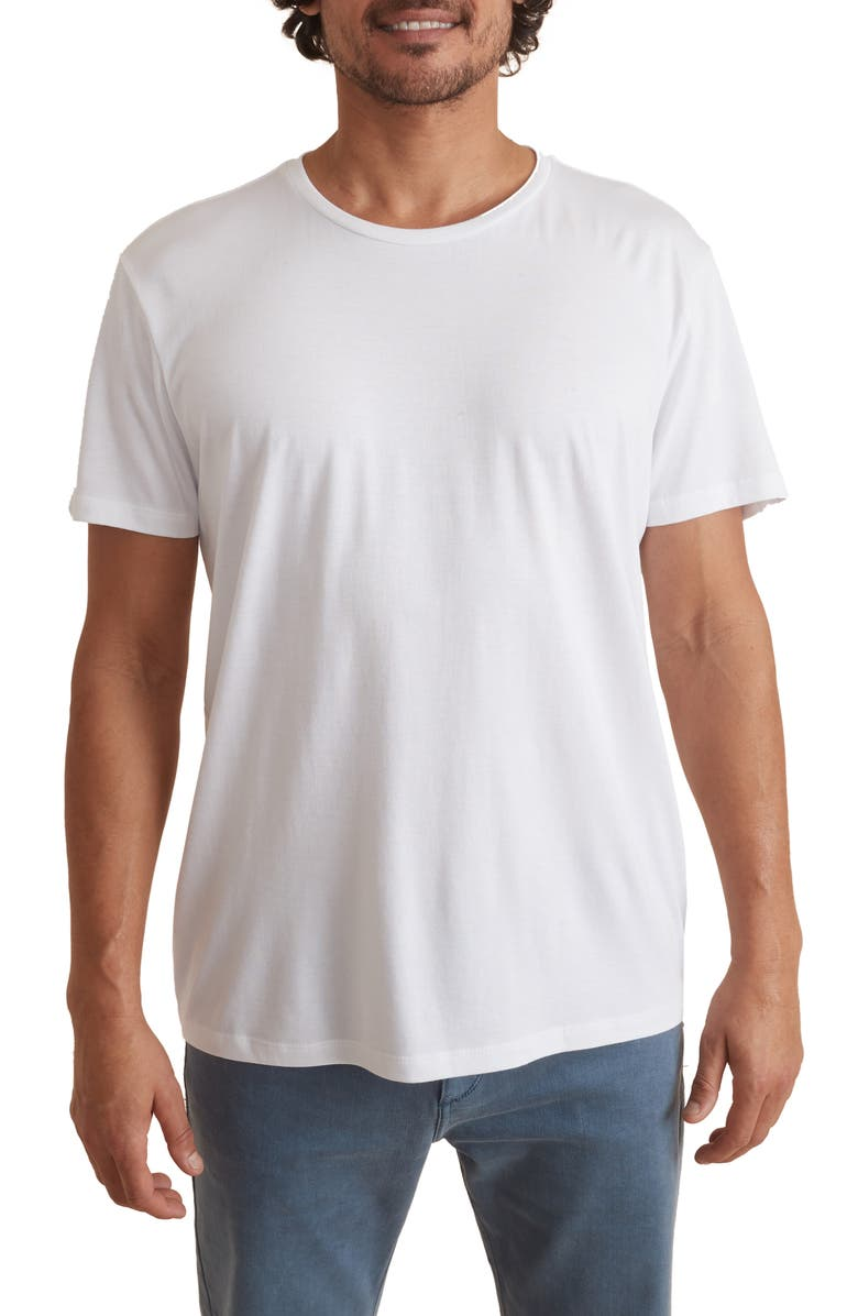 MARINE LAYER Signature Crewneck T-Shirt, Main, color, WHITE