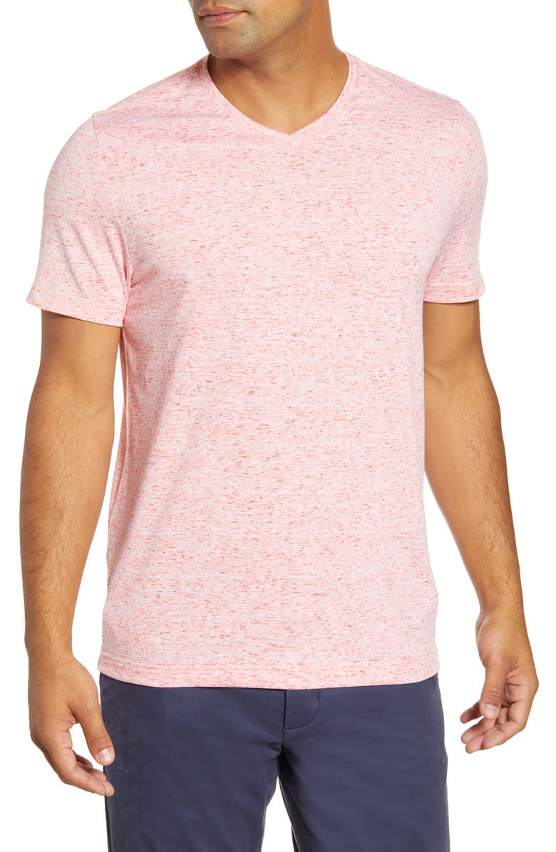 CUTTER AND BUCK Advatage Space Dye T-Shirt, Main, color, ALARM
