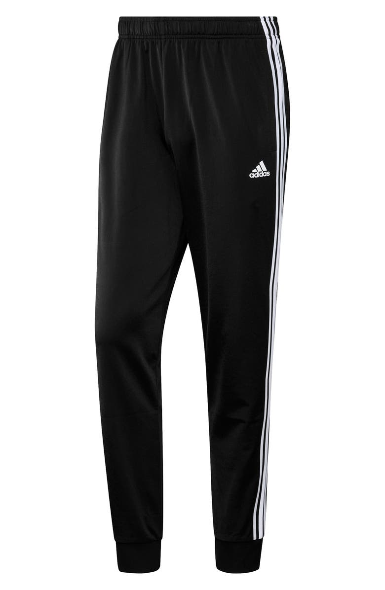 ADIDAS Primegreen Essentials Warm-Up Tapered 3-Stripes Track Pants, Main, color, BLACK/WHITE