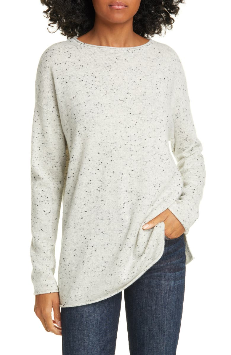 NORDSTROM SIGNATURE Long Sleeve Cashmere Tunic Sweater, Main, color, 050