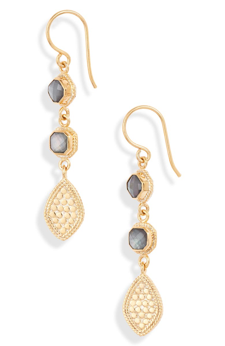 ANNA BECK Triple Drop Quartz Earrings, Main, color, 020