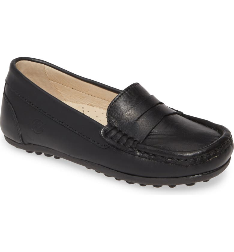 NATURINO Piacenza Penny Loafer, Main, color, BLACK LEATHER