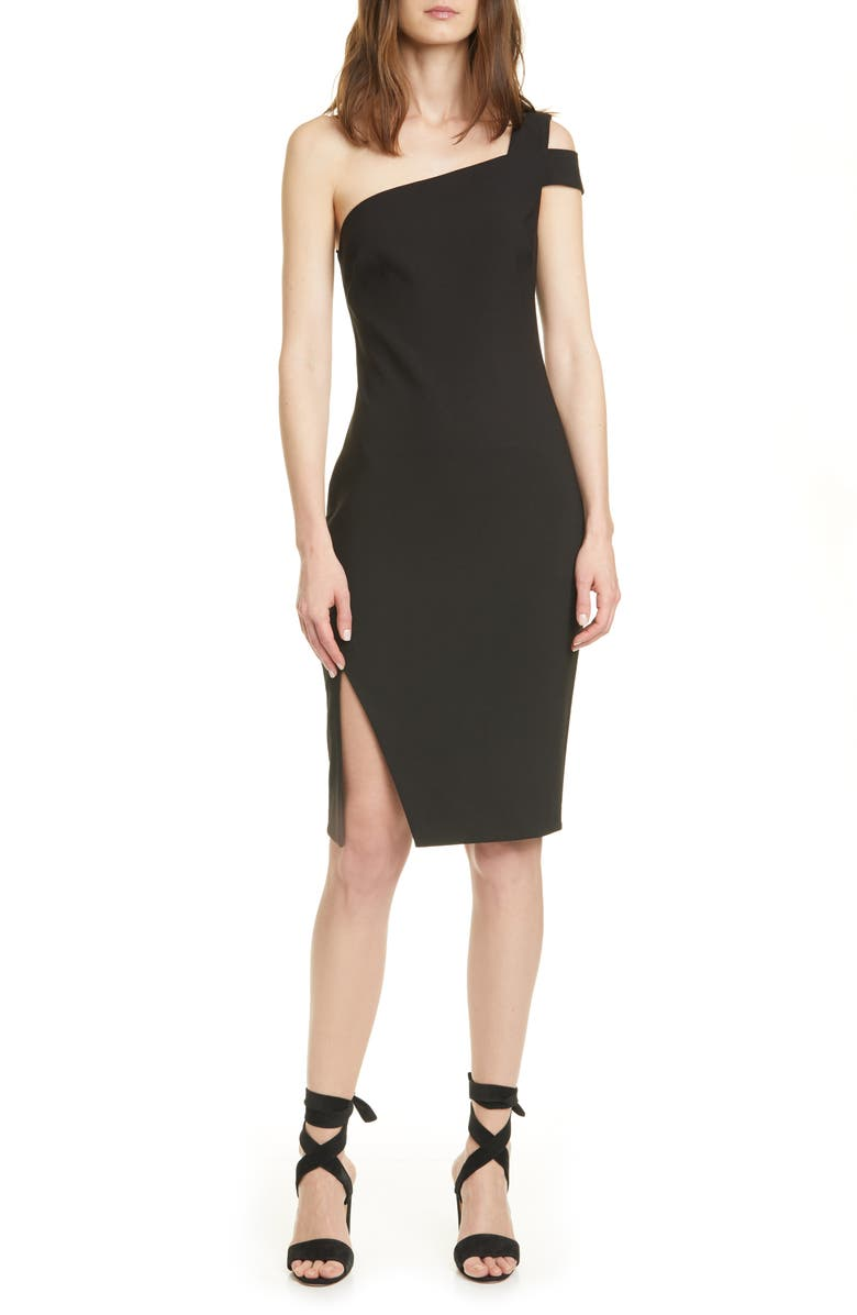 LIKELY Packard One-Shoulder Sheath Dress, Main, color, 001