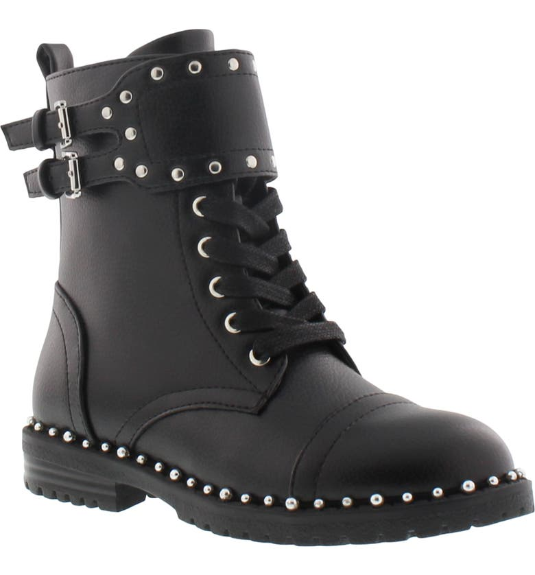 SAM EDELMAN Polly Jennifer Studded Combat Boot, Main, color, 001