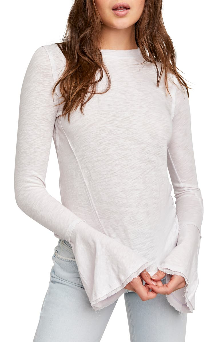 FREE PEOPLE Cecelia T-Shirt, Main, color, ETHEREAL