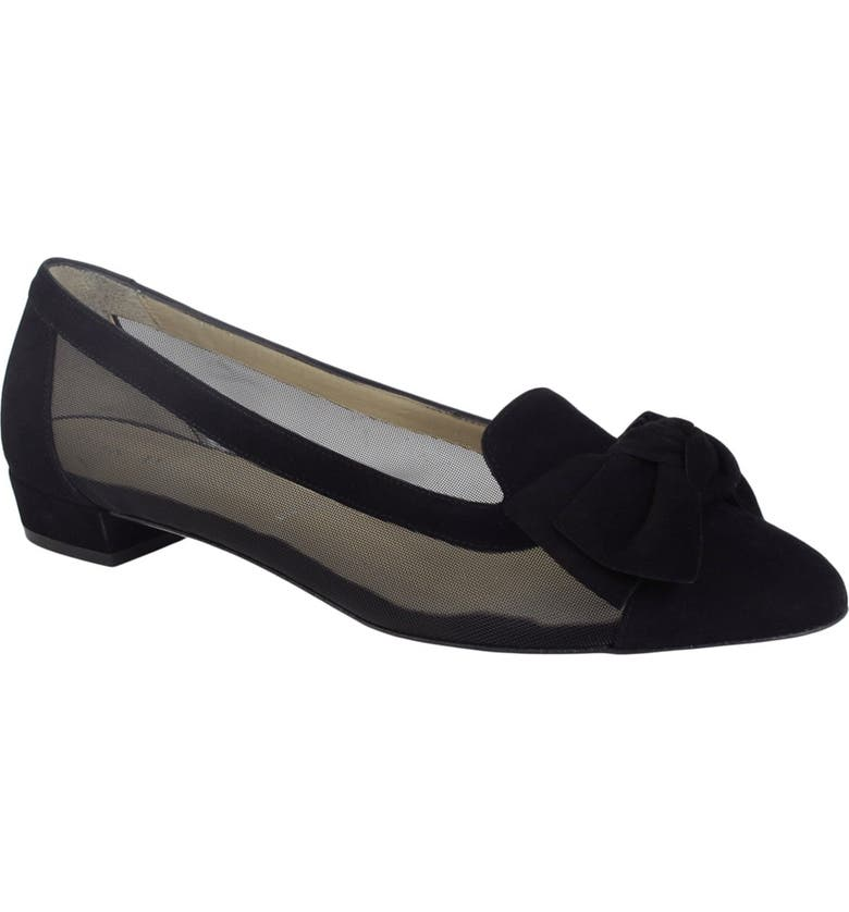 RON WHITE Hettie Suede Loafer, Main, color, ONYX