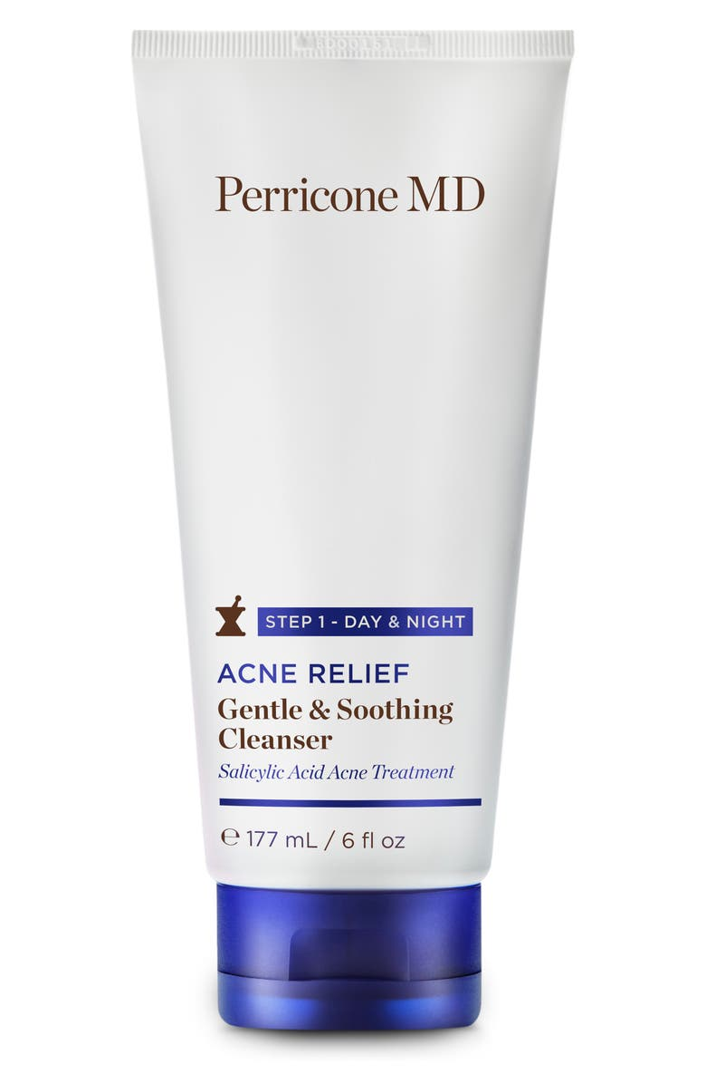 PERRICONE MD Acne Relief Gentle & Soothing Cleanser, Main, color, NO COLOR
