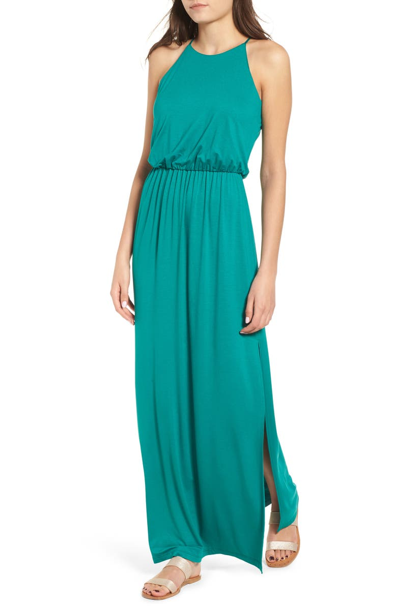 ALL IN FAVOR High Neck Maxi Dress, Main, color, 388