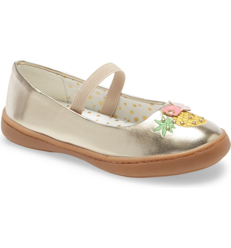 TUCKER + TATE Metallic Mary Jane Flat, Main, color, 710