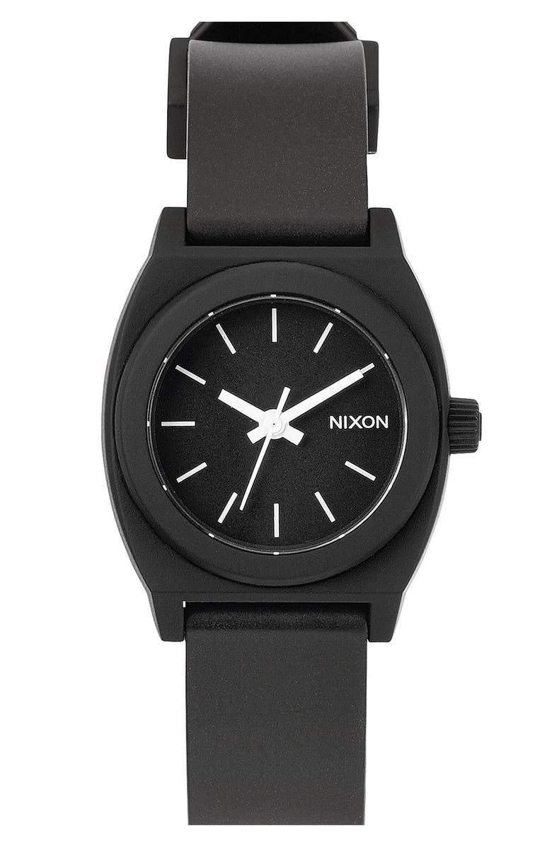 NIXON 'The Small Time Teller' Round Watch, 26mm, Main, color, 001