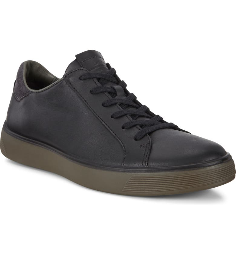 ECCO Street Tray Sneaker, Main, color, BLACK/ MAGNET LEATHER