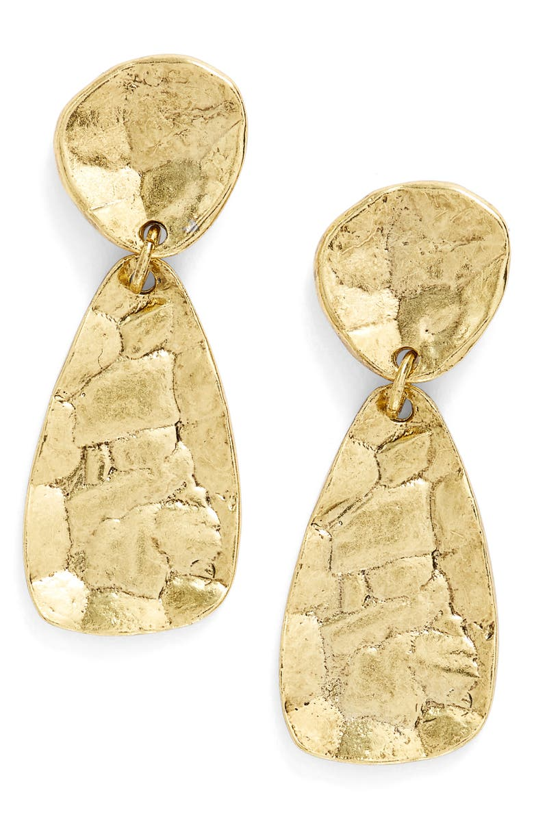 KARINE SULTAN Athena Oval Drop Earrings, Main, color, Gold