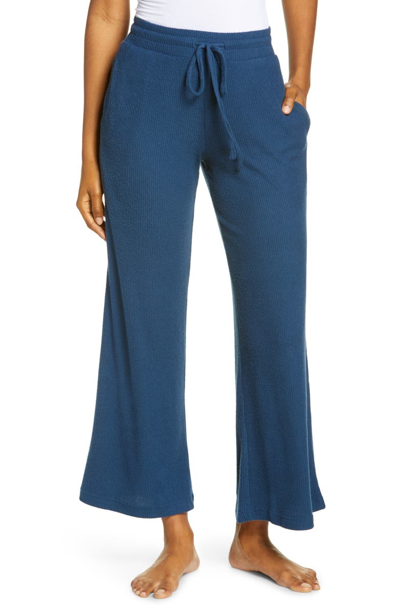 NORDSTROM Wide Leg Lounge Pants, Main, color, BLUE BLUR