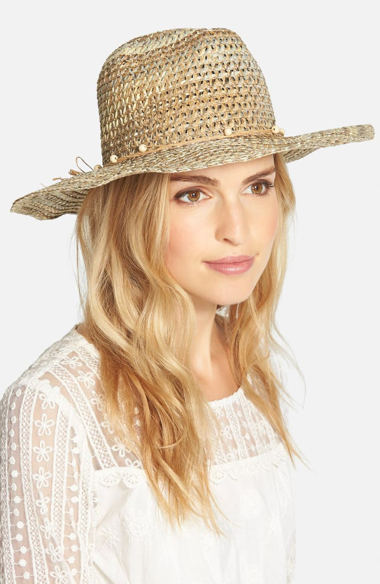 T+C BY THEODORA & CALLUM Multicolor Straw Hat, Main, color, 200