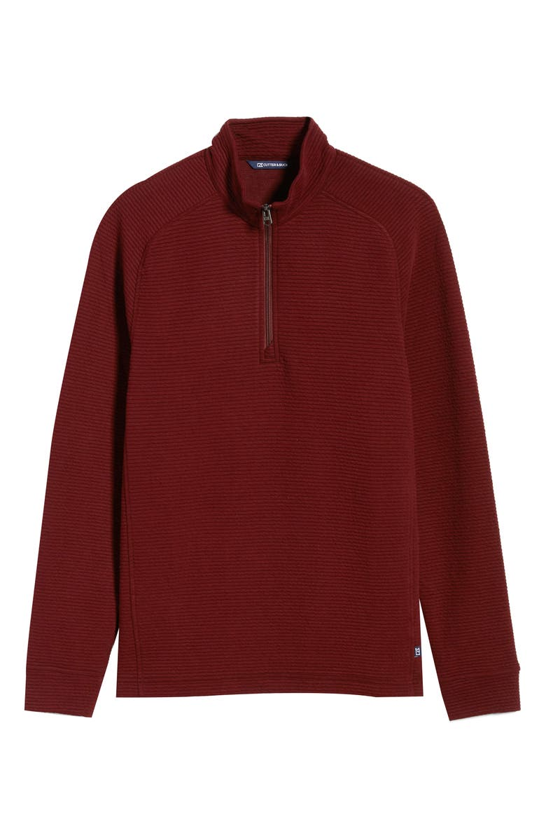 CUTTER & BUCK Coastal Ribbed Half Zip Pullover, Main, color, BORDEAUX