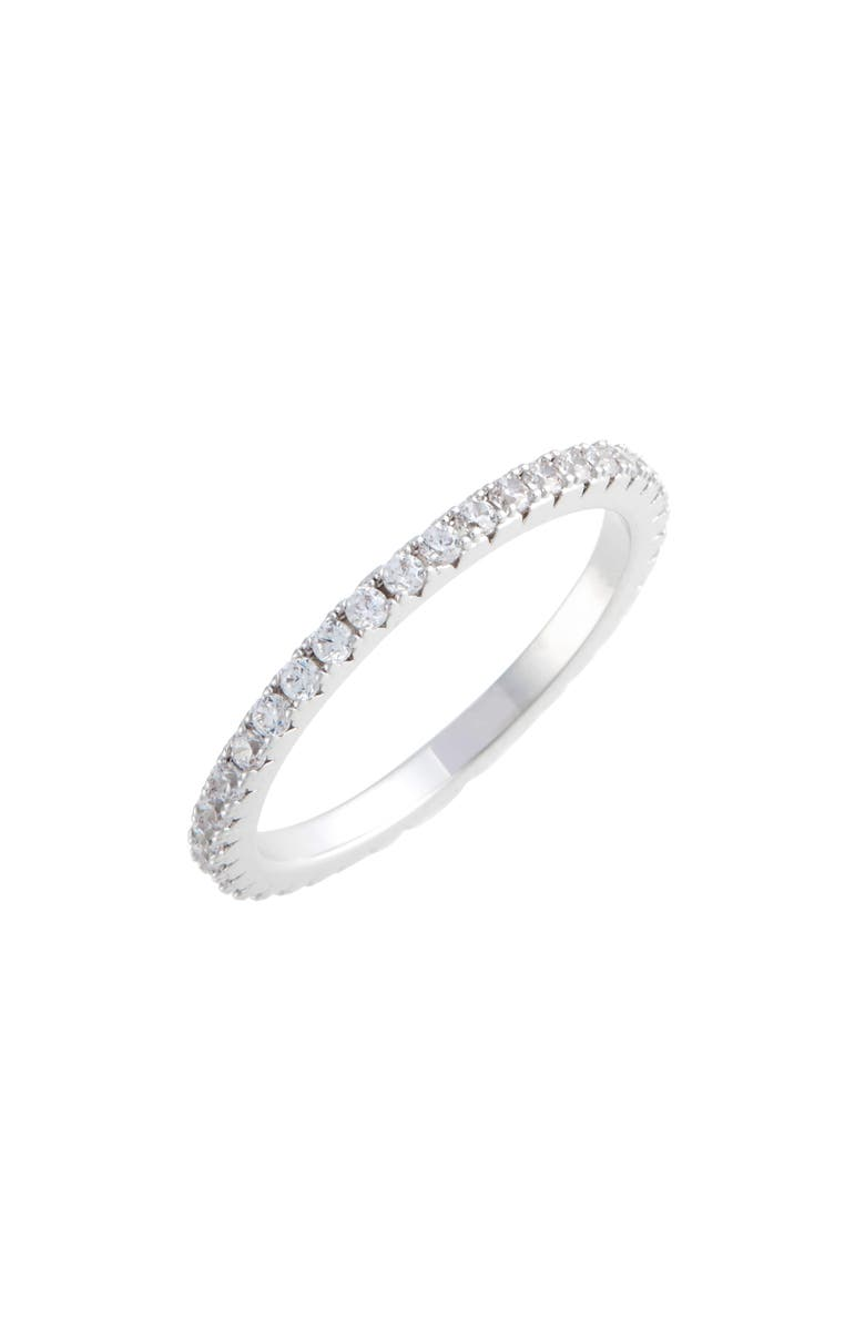 NORDSTROM Pavé Eternity Band, Main, color, CLEAR- SILVER