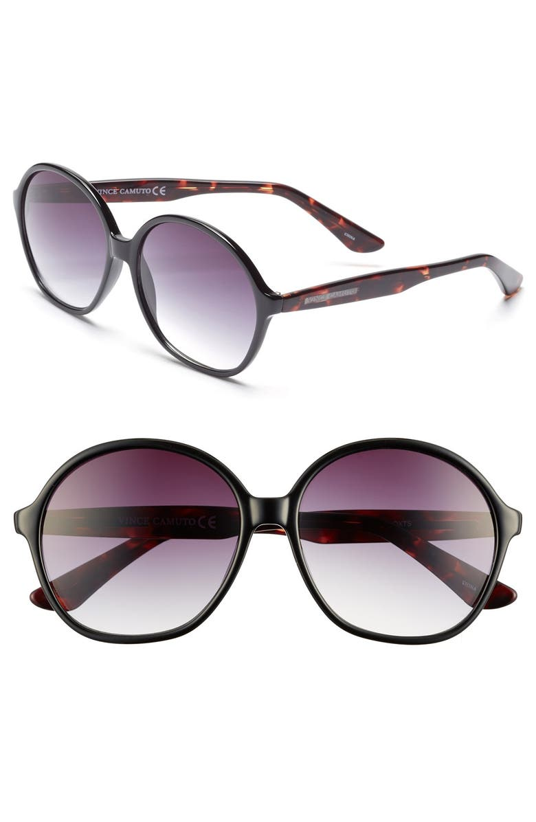 VINCE CAMUTO 59mm Round Sunglasses, Main, color, 003