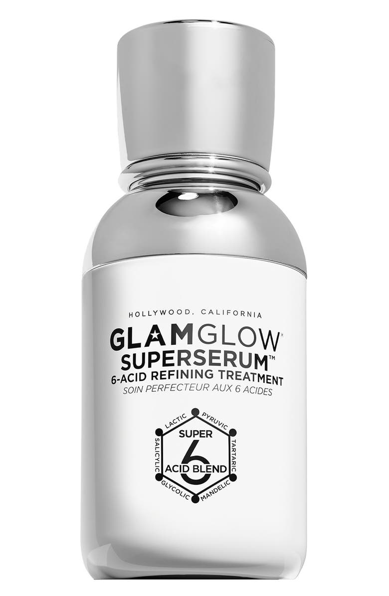 GLAMGLOW<SUP>®</SUP> SUPERSERUM<sup>™</sup> 6-Acid Refining Treatment Serum, Main, color, No Color