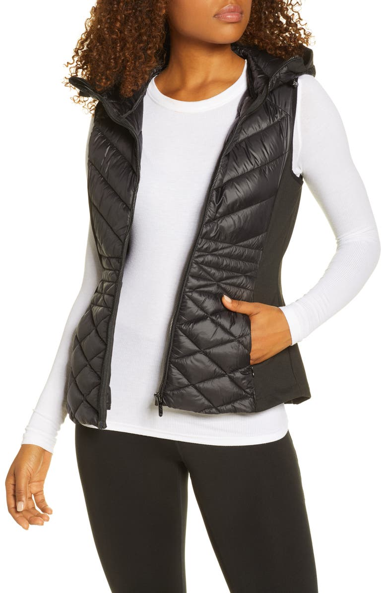 ZELLA Hybrid Quilted Performance Vest, Main, color, 001
