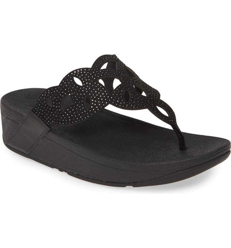 FITFLOP Elora Crystal Flip Flop, Main, color, 009